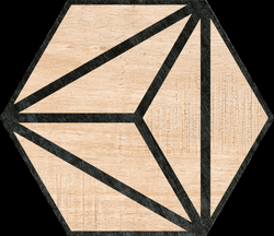 Hexagon Tribeca Beige 22x25cm