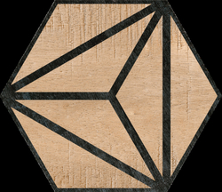 Hexagon Tribeca Brown 22x25cm
