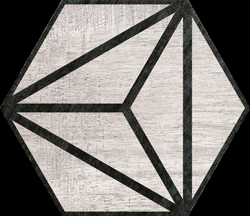 Hexagon Tribeca Grey 22x25cm